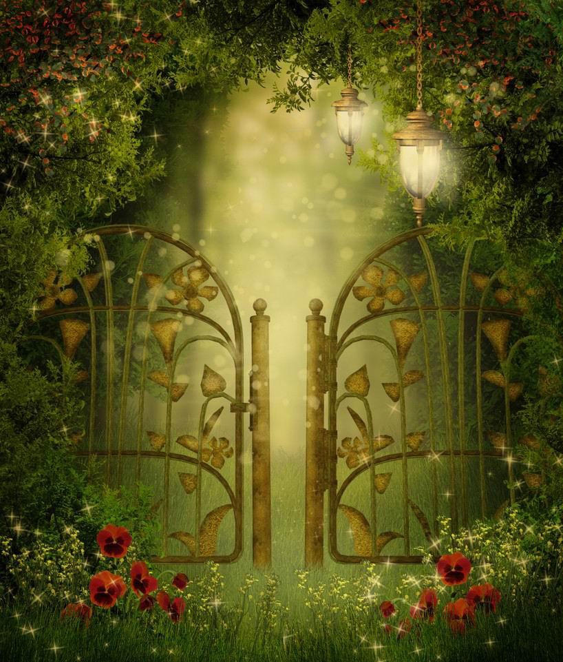 fairy garden white wallpaper - photo #15