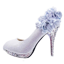 Red Women Shoes Women Wedding Shoes Glitter Gorgeous Bridal Crystal Red Bottom High Heels Women Shoes Woman Pumps Bridal Shoes стоимость
