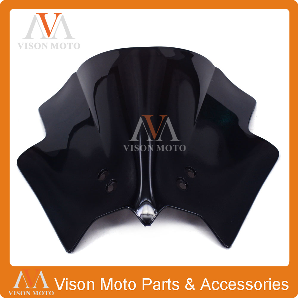 Motorcycle Winshield Windscreen For KTM DUKE 125 200 390 DUKE125 DUKE200 DUKE390 black windscreen windshield for ktm 125 200 390 duke motorcycle motorbike dirt bike free shipping