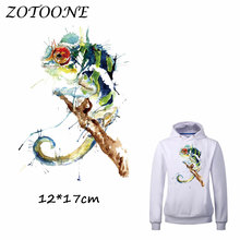 ZOTOONE Heat Transfer Clothes Stickers Watercolor Bird Patches for T Shirt Jeans Iron-on Transfers DIY Applique Clothes Parches 50pcs wholesale bird heat transfers iron on patches for coat jeans t shirt clothes decorative diy craft stickers applications