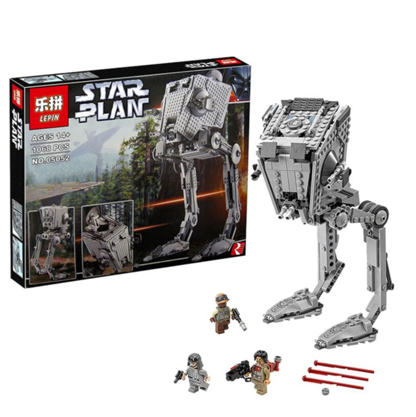 ФОТО 2016 New Lepin 05052 Star War Series 1068pcs Out of print empire AT ST Building Blocks Bricks Model Toys Boys Gifts 75153