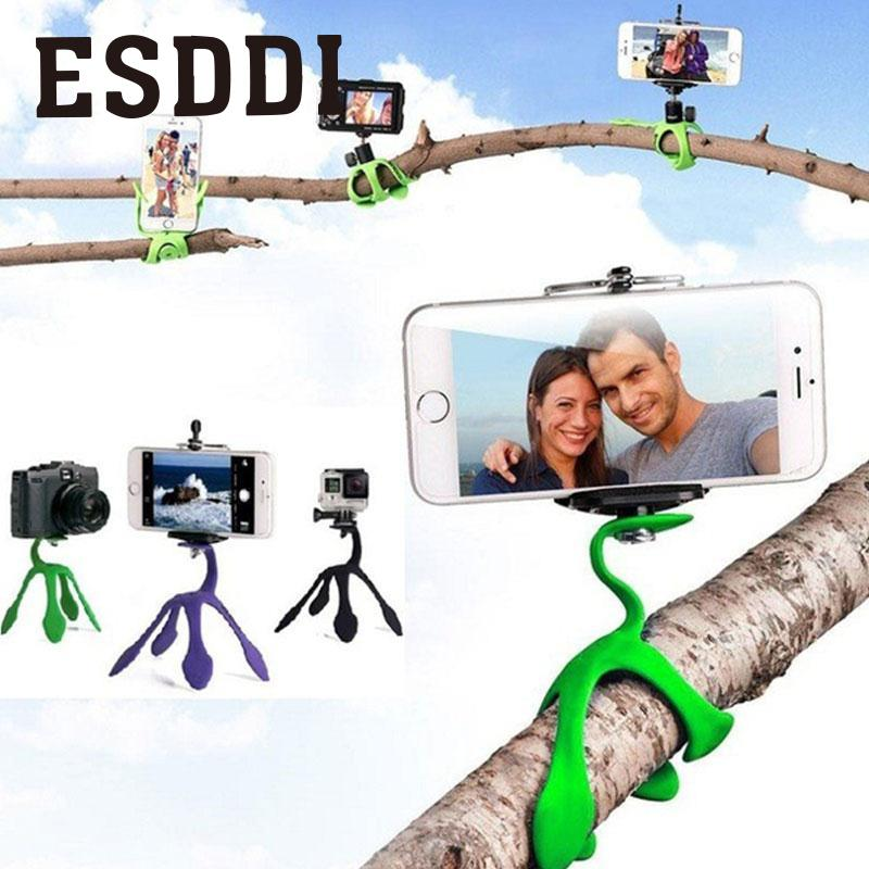 Esddi New Mini Portable Flexible Tripod For Camera Camcorder Support Stand Sports Professional Holder For Sports Cam Accessories