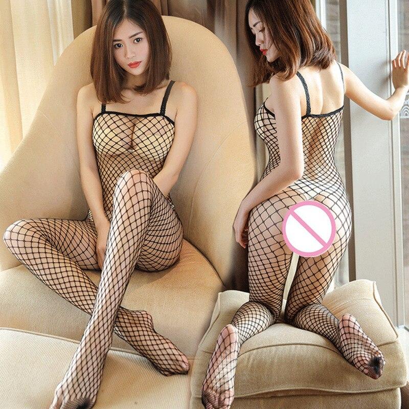 Women Transparent Babydoll Lingerie Sexy Hot Erotic Fishnet Lingerie Plus Size Open Crotch Sexy Underwear Costumes Sleepwear