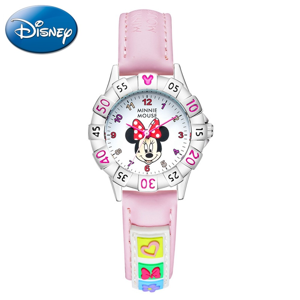 Watches Honey 100% Genuine Disney Cartoon Frozen Children Girl Watches Silicone Quartz Students Girls Clocks Number Waterproof Original Suitable For Men And Women Of All Ages In All Seasons