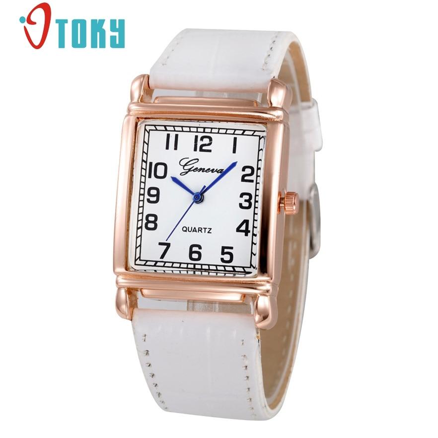 цена OTOKY 2017 Fashion Square Quartz Watch Women Luxury Wrist Watch Female Clock Diamond Wristwatch Relojes Mujer #20 Gift 1pc онлайн в 2017 году