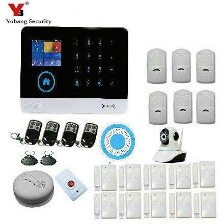 YoBang Security 3G WCDMA/CDMA WIFI GPRS Home Office Burglar Alarm System With Wireless Indoor Alarm IP Camera Smoke Detector цены онлайн