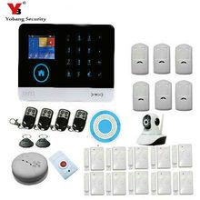 YoBang Security 3G WCDMA/CDMA WIFI GPRS Home Office Burglar Alarm System With Wireless Outdoor Alarm IP Camera Smoke Detector.