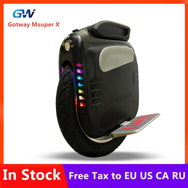 Оригинальный Gotway Msuper X самобалансирующийся электрический скутер 2000 Вт Мотор 1600WH 160 км Диапазон 19 колесо Одноколесный скейтборд Ховерборд