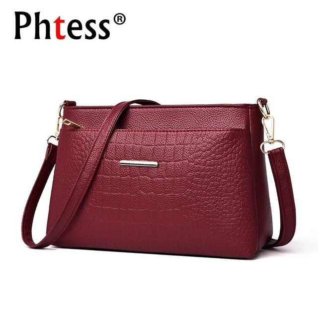 2019 Women Messenger Bags Vintage Leather Shoulder Bag Female Sac A Main Crossbody Bags For Women Handbags Luxury Designer New