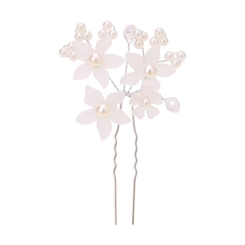 Đồ Trang Sức quyến rũ Tóc Hoa Phụ Kiện Rhinestone Floral Head Mảnh Trân Tóc Pins Clip Đầu Kẹp Tóc Kẹp Tóc Cô Dâu #