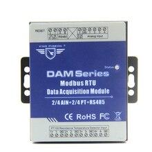 Модуль дистанционного сбора данных 2 Аналоговый 2 PT сопротивление термометр регистратор данных модуль с RS485 DAM122