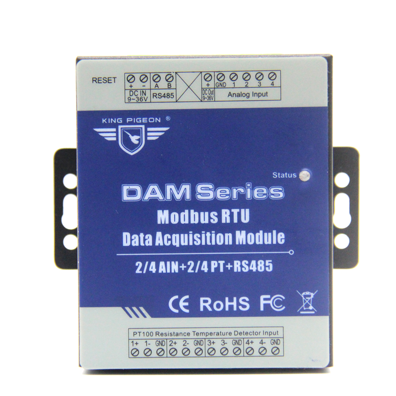 Remote Data Acquisition Module 2AIN+2 Channel PT Resistance Thermometer Extended Module with RS185 DAM122Remote Data Acquisition Module 2AIN+2 Channel PT Resistance Thermometer Extended Module with RS185 DAM122