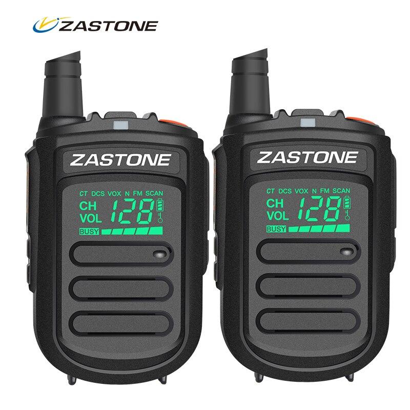 2 шт. оригинальный Zastone Mini9 портативный мини рация UHF 400-480 мГц Хэм любительского Радио двухстороннее Радио 128 Каналы портативная рация