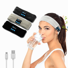 Knitted Bluetooth headband headphone Sports running Headset Supports Music wireless hands free for smartphone Fashion Design