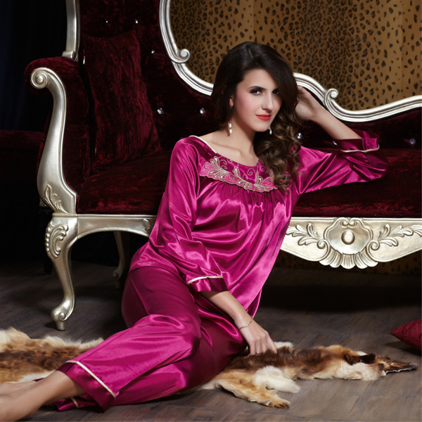 e38f01b9a5 new 2014 pijama for women pajama sets sexy sleep lounge satin indoor  clothing pajamas set sleepwear nightgown pijama 2 pcs plus