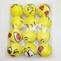 6.3 см случайный стиль Emoji Лица забавные игрушки Стресс Мяч мягкие Сожмите Мяч Стресс Снять стресс Dianxiatoy