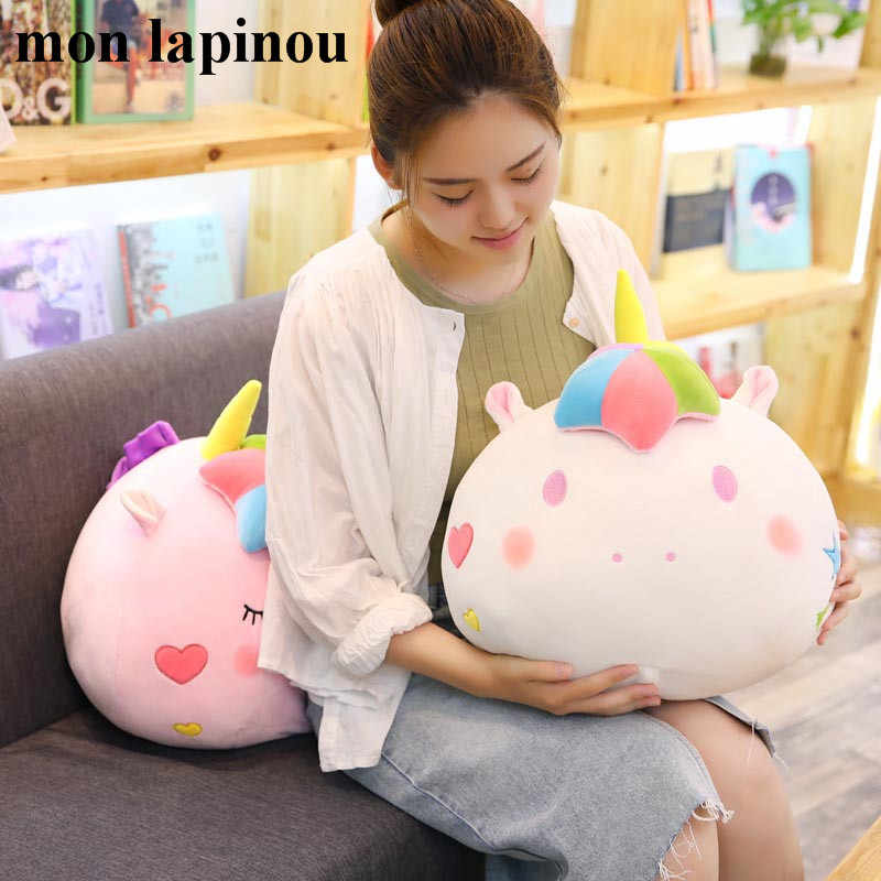 unicorn plush pillow with blanket 2 in