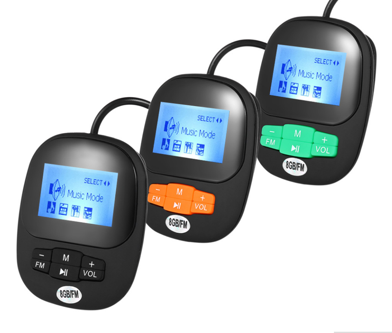 2PCS Coup Waterproof MP3 IPX8 Swimming Diving Player Earphone Underwater Surf Sports Swim Mini Headset FM Radio Screen MP3