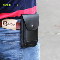 SZLHRSD Onur için erkek Deri Kemer LG İmza Sürümü Görünüm 10 Leagoo T5c Oppo A79 Telefonu Çantası Dikey Çift Telefon Çantası ince
