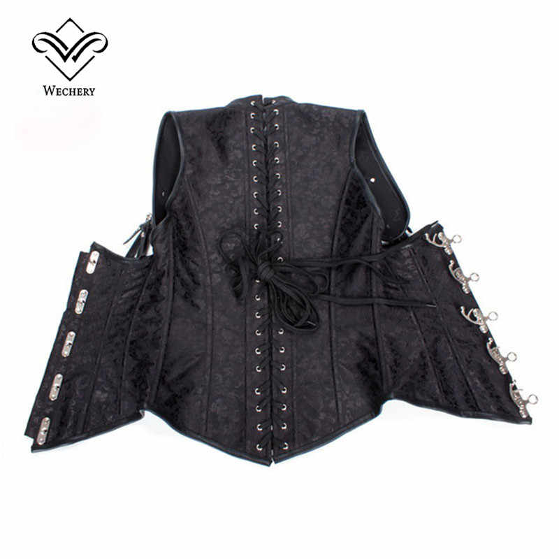 Steampunk Corset Sexy Corsage Corsets and Bustiers Slimming  Gothic Corselet Steel Boned Straitjacket Plus Size S-6XL