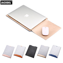 Jacodel Leather Laptop Bag for Xiaomi Laptop Sleeve Handbags Fashion Leather Laptop Sleeve Bags for Xiaomi Air 13.3 12.5 inch