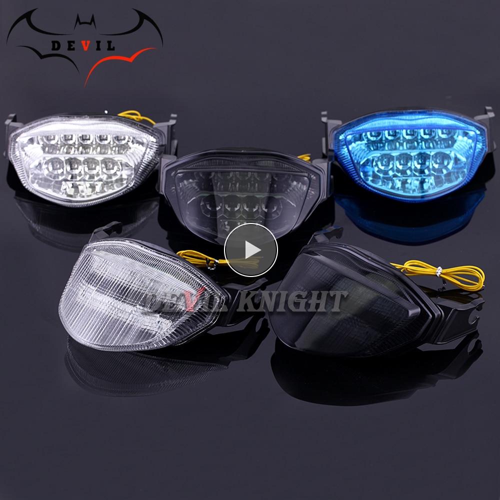 For Suzuki GSXR 1000 GSXR1000 GSX-1000 K5 K6 2005 2006 Rear Tail Light Brake Turn Signals Integrated LED Light Motorcycle Light