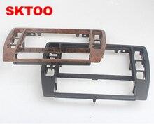 SKTOOFor VW PassatB5 Medio Escudo Centro Cuadro Decorativo Marco Panel de La Consola Salpicadero Grabadora de CD Radio Asiento Cara 3B0858069