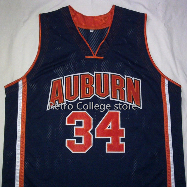 d3e661574be ... 34 CHARLES BARKLEY Auburn University Retro throwback College Basketball  Jerseys Embroidery Stitched Any Name And ...