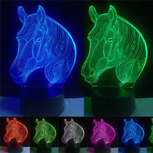 amroe Top 3D Horse Head Visual Lamp Atmosphere Mood Multi-colored Night  Light 96806e155ad4