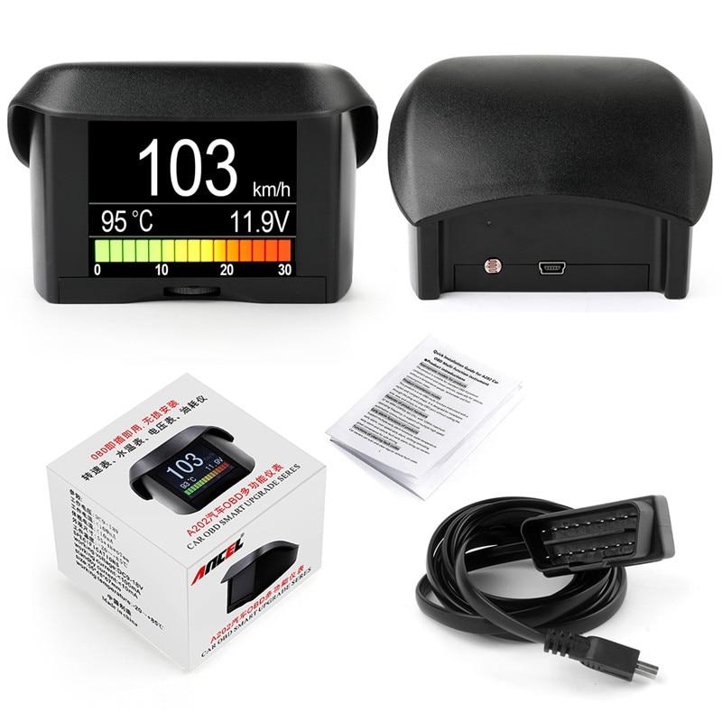 Automobile On-board Computer ANCEL A202 Car Digital OBD Computer Display Speed Fuel Consumption Temperature Gauge OBD2 Scanner