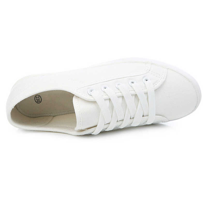 b67c92bcae5 ... Star Style Canvas Sneakers Women Casual Shoes White Sneakers Women  Vulcanized Shoes Lace Up Flat Trainers