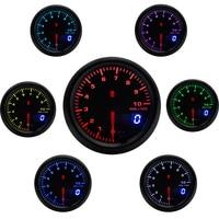 2 52mm 7 Colors LED Car Auto Tachometer 0 10000 RPM Gauge Analog/Digital Dual Display Car Meter