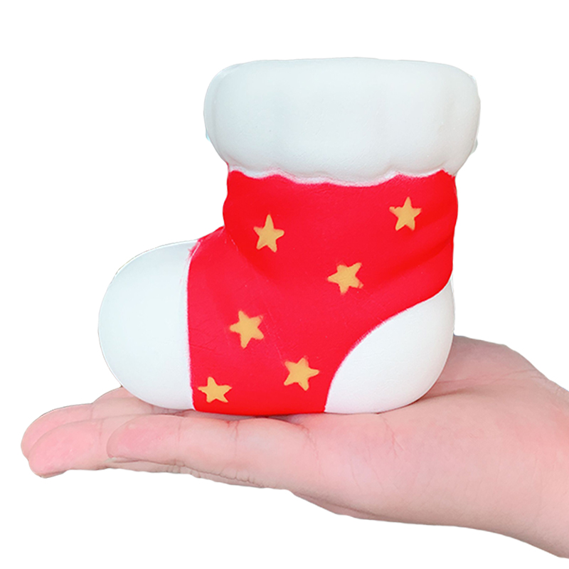 Jumbo Christmas Socks Squishy Slow Rising Soft Squeeze Toy Simulation Sweet Scented Stress Relief Fun For Kid Baby Xmas Gift Toy