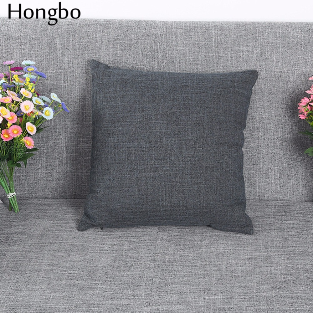 soft decorative pillows. Aliexpress com Buy Hongbo 1 Pcs Sofa Cushion Covers Solid Color Linen Throw  Pillows Cases 45X45cm Soft Decorative Minimalistic Style from martinkeeis me 100 Images Lichterloh