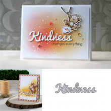 YaMinSanNiO Kindness Letter Dies Metal Cutting Die for Card Making New 2019 Scrapbooking