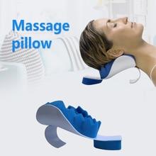 Дорожная подушка для шеи терапевтическая поддержка приспособление для снятия напряжения шеи и плеча расслабляющие подушки мягкая губка релиз Массажер для мышц