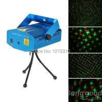 Free Shipping Wholesale High Quality New Blue Mini LED Laser Projector With Retail Box DJ Disco