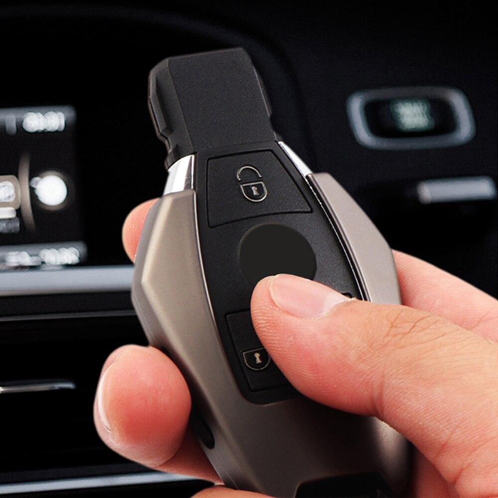 Nova 3 Botões do Controle Remoto Liga de Zinco Shell Chave do Caso Da Tampa da chave Do Carro Para Mercedes Benz C E S Classe W210 w212 W221 W222 W251 W463
