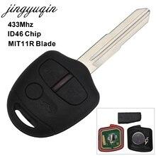 jingyuqin Remote Key Fob Control For Mitsubishi Outlander Lancer ID46-PCF7936 433Mhz 2008-2013 3 Button MIT11R Key