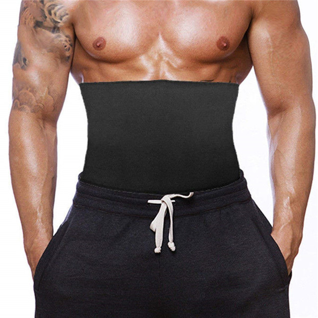SEXYWG Fitness Belt for Men Back Support Hot Neoprene Sauna Sweat Belt Weight Loss Body Shaper Abdominal Strap Waist Trainer Top