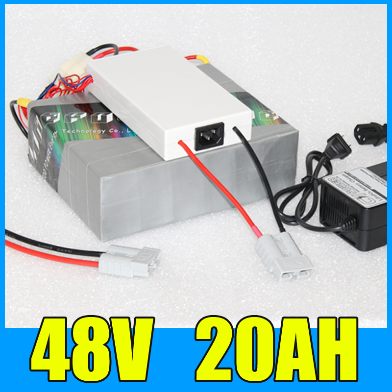 48v 20ah lithium battery Pack , 54.6V 1000W electric bike electric scooter battery , Free BMS Charger Shipping free customs taxes super power 1000w 48v li ion battery pack with 30a bms 48v 15ah lithium battery pack for panasonic cell