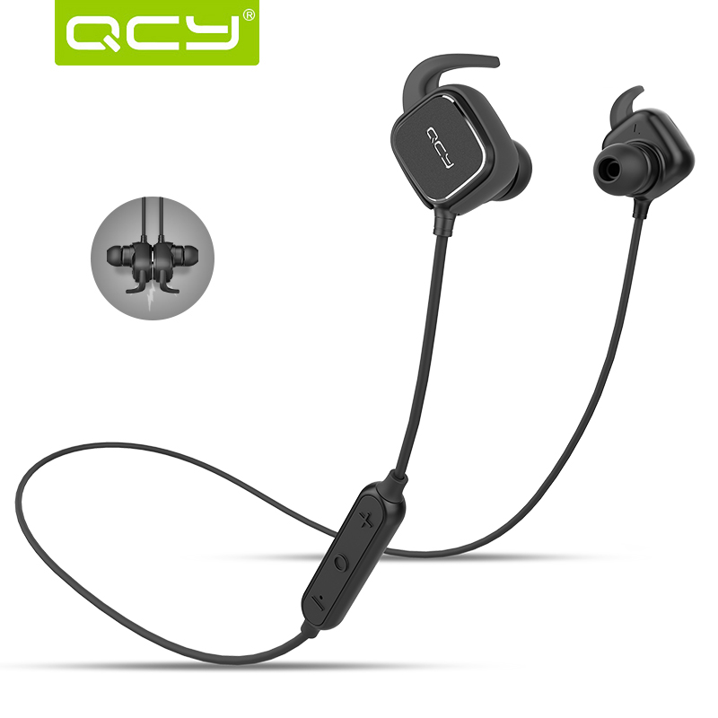 hot wireless bluetooth earphones original qcy qy12 headset with mic sport auriculares bluetooth. Black Bedroom Furniture Sets. Home Design Ideas