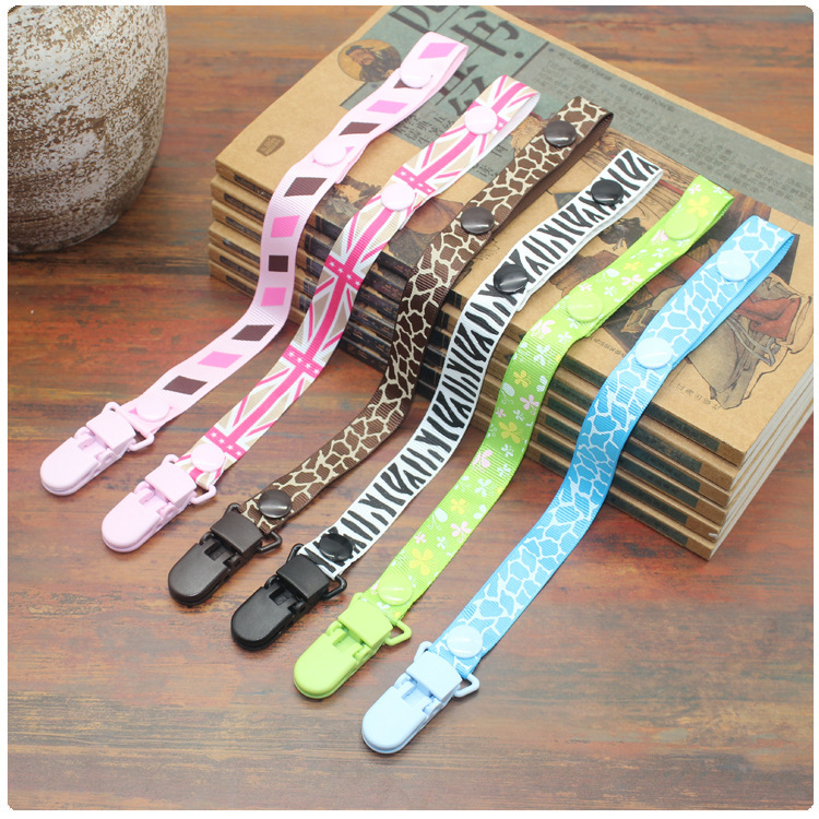 Baby Pacifier Clip Chain Cartoon Fixed Button Portable Straps Chain Hanging Tie Nipple Holder Fastening Belt For Newborn Infants