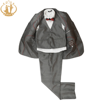 Nimble Boys Formal Suit 100% Polyester Gray Casual Kids Blazer Fashion Three Pieces Suit Coat Vest Pants
