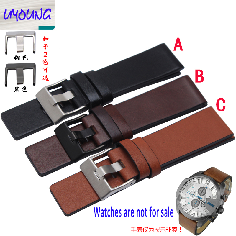 Youyang Plain Leather Watchband adapter DZ1399 DZ4280 DZ4290 24 26 28mm Diesel watch strapYouyang Plain Leather Watchband adapter DZ1399 DZ4280 DZ4290 24 26 28mm Diesel watch strap