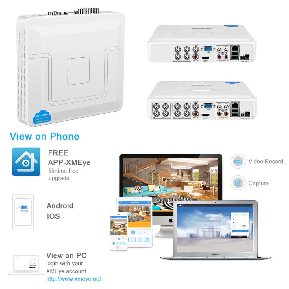 Yiispo 2.0MP 1080N 4ch/8ch CCTV 5in1 AHD/CVI/TVI Analog DVR H.264 VGA/HDMI Output 1080P 16ch NVR ONVIF P2P Xmeye Aplikasi Sistem CCTV