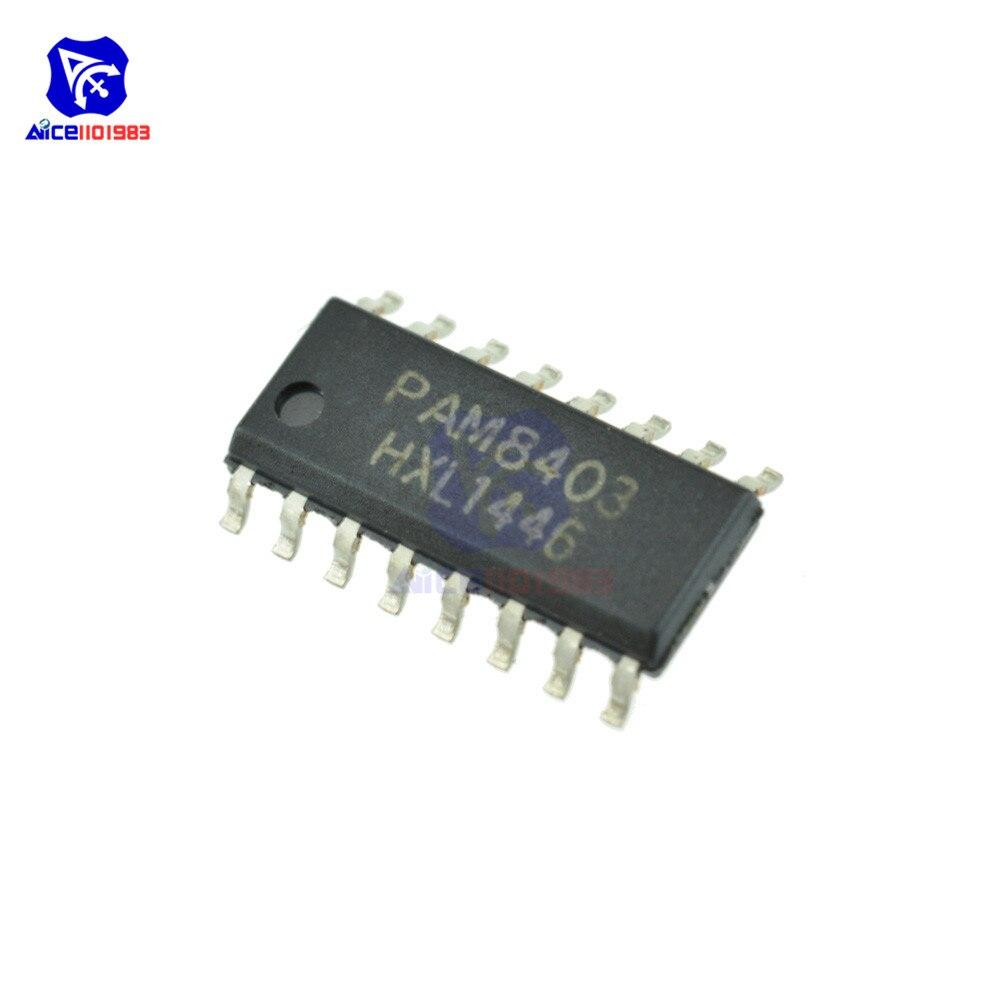 10 шт. /лот IC откалывает PAM8403DR PAM8403 лапками углублением SOP-16 оперативной аудио усилитель оригинальный чип интегральной схемы