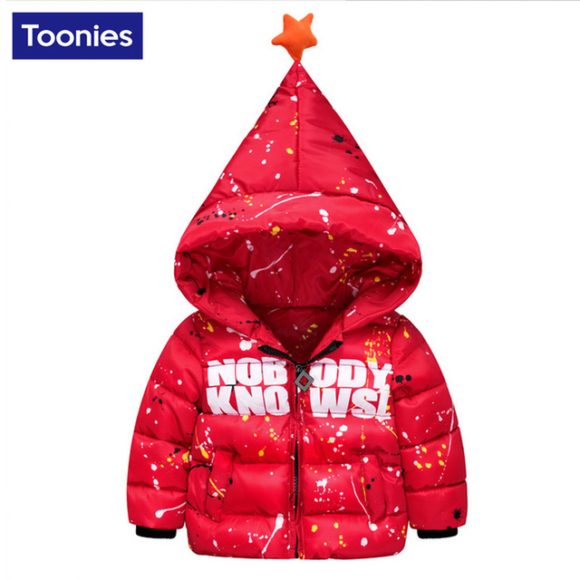 Hot Sale Fashion Winter Children's Clothing Boys Coats Outerwear Child Down Letters Printed Parkas Hooded Down for Boys NB0017