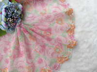 19cm wide ~Beautiful~  Embroidered Tulle Lace trim mesh lace trim 5yards/lot