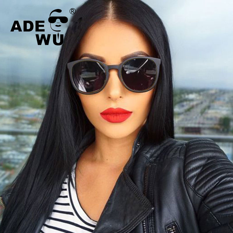 ADE WU Cat Eye Sunglasses Women Famous Brand Designer Oval Sunglasses For Women UV400 Mi ...